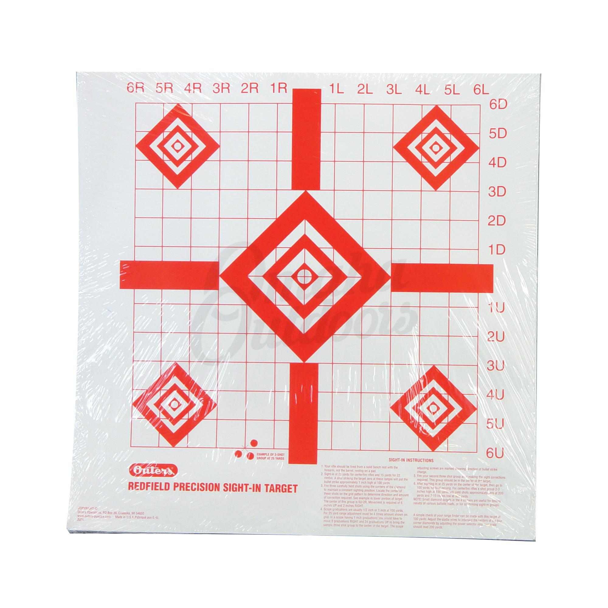 champion trap  u0026 target redfield paper target white diamond