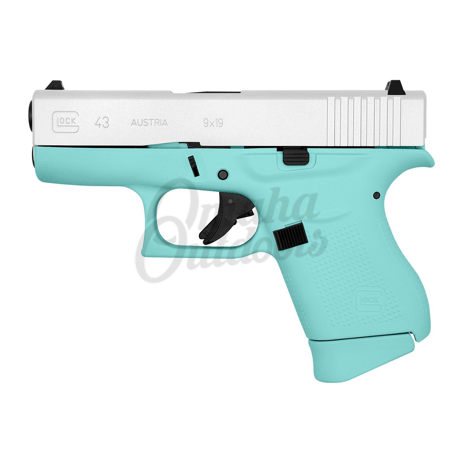 Glock 43 Vera Blue Pistol 6 Rd 9mm Satin Aluminum Slide Pi4350201 Vbsa