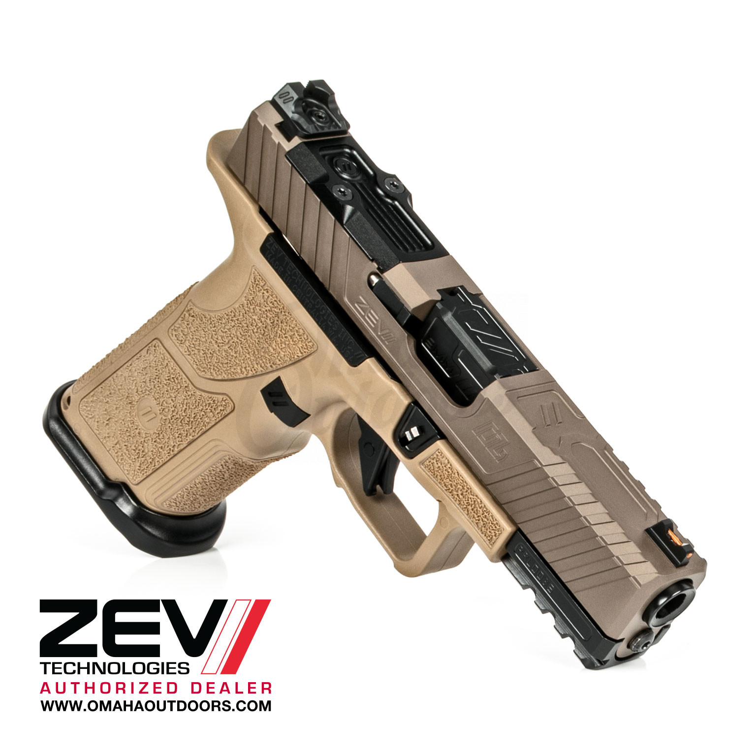 Zev Tech Oz9 Compact X Pistol 9mm Fde 17 Rd Oz9c