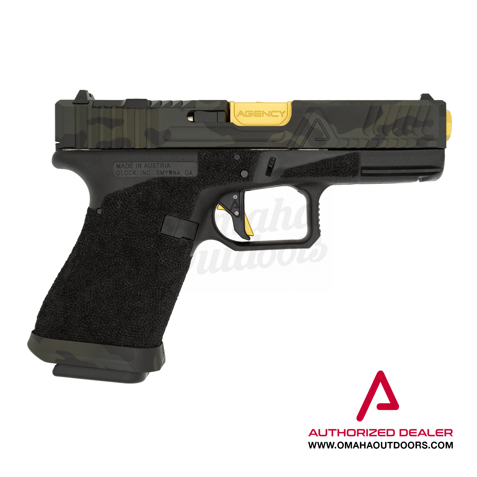 Agency Arms Glock 19 Gen 3 Hybrid Pistol 9mm Black MultiCam Slide 15 RD  AA-G19-G3-URBAN-BMC-SL-MW-PREM-TIN-BBL