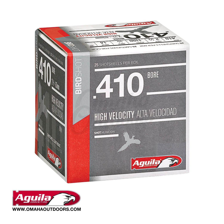 Aguila Ammunition Sub-Gauge Ammo 410 Bore 2 5″ #8 Shot 25 Round Box 1CHB4138