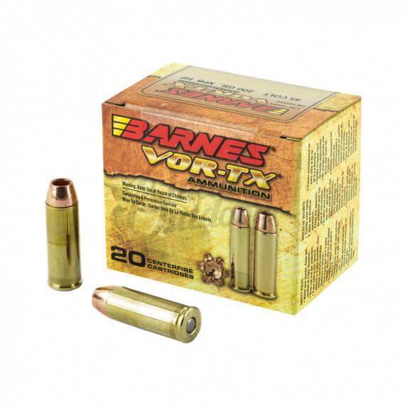 Barnes Bullets VOR-TX Ammo 45 Long Colt 200 gr XPB JHP 20 ...