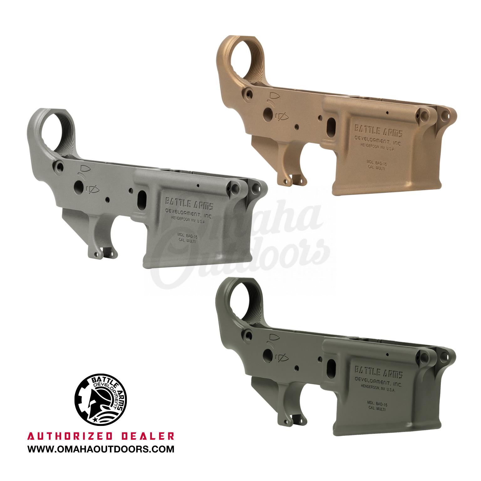 Battle Arms Development BAD-15 Gen 2 Lower Receiver AR-15 Forged 7075-T6  Aluminum