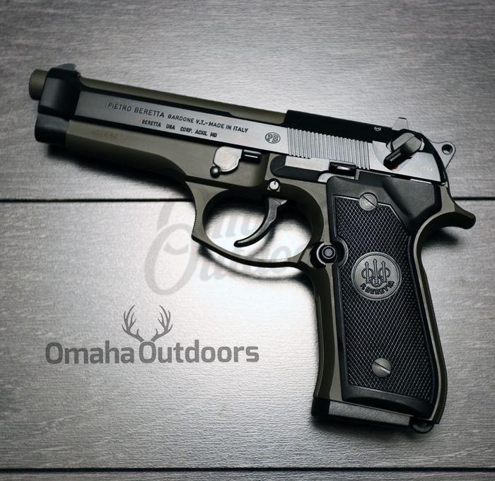 Beretta 92FS OD Green Pistol 9mm 15 RD JS92F300M-MODG-FR-BBL