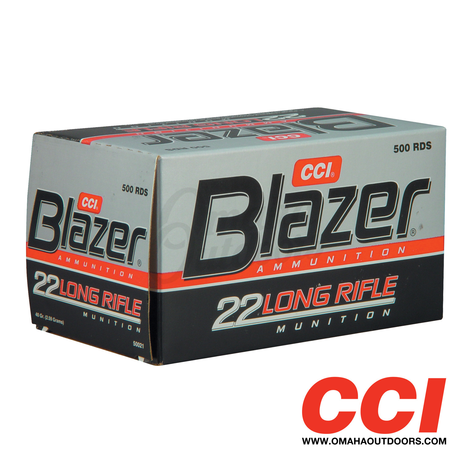 cci blazer ammo 22lr 40 gr lrn 500 round box 21