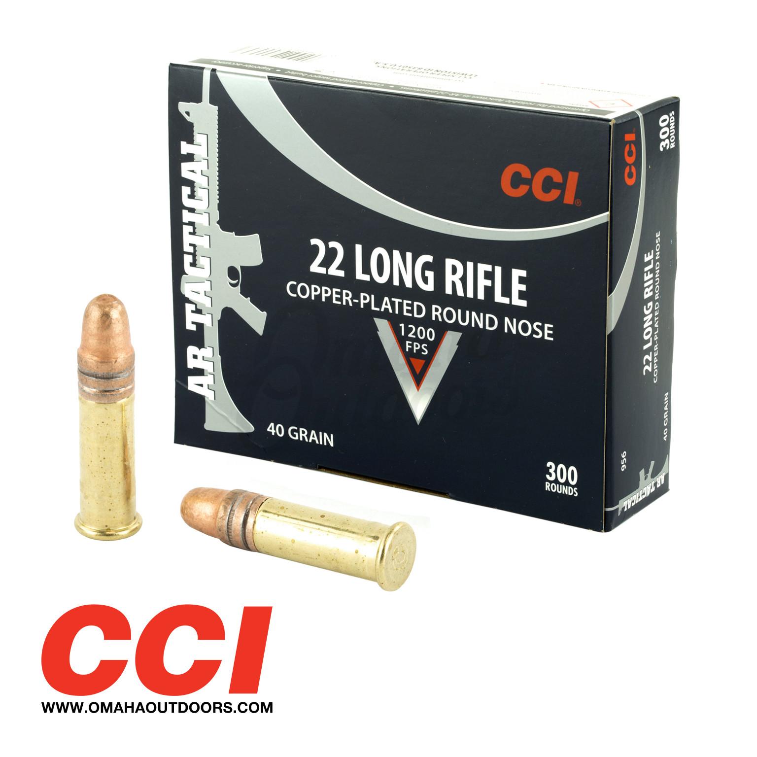 cci ar tactical ammo 22lr 40 gr cp lrn 300 round box 956