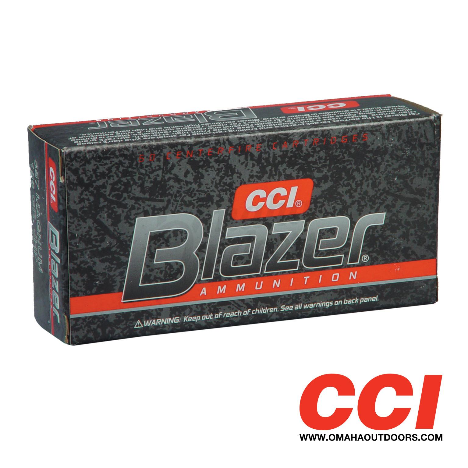 cci blazer ammo 357 magnum 158 gr jhp 50 round box 3542