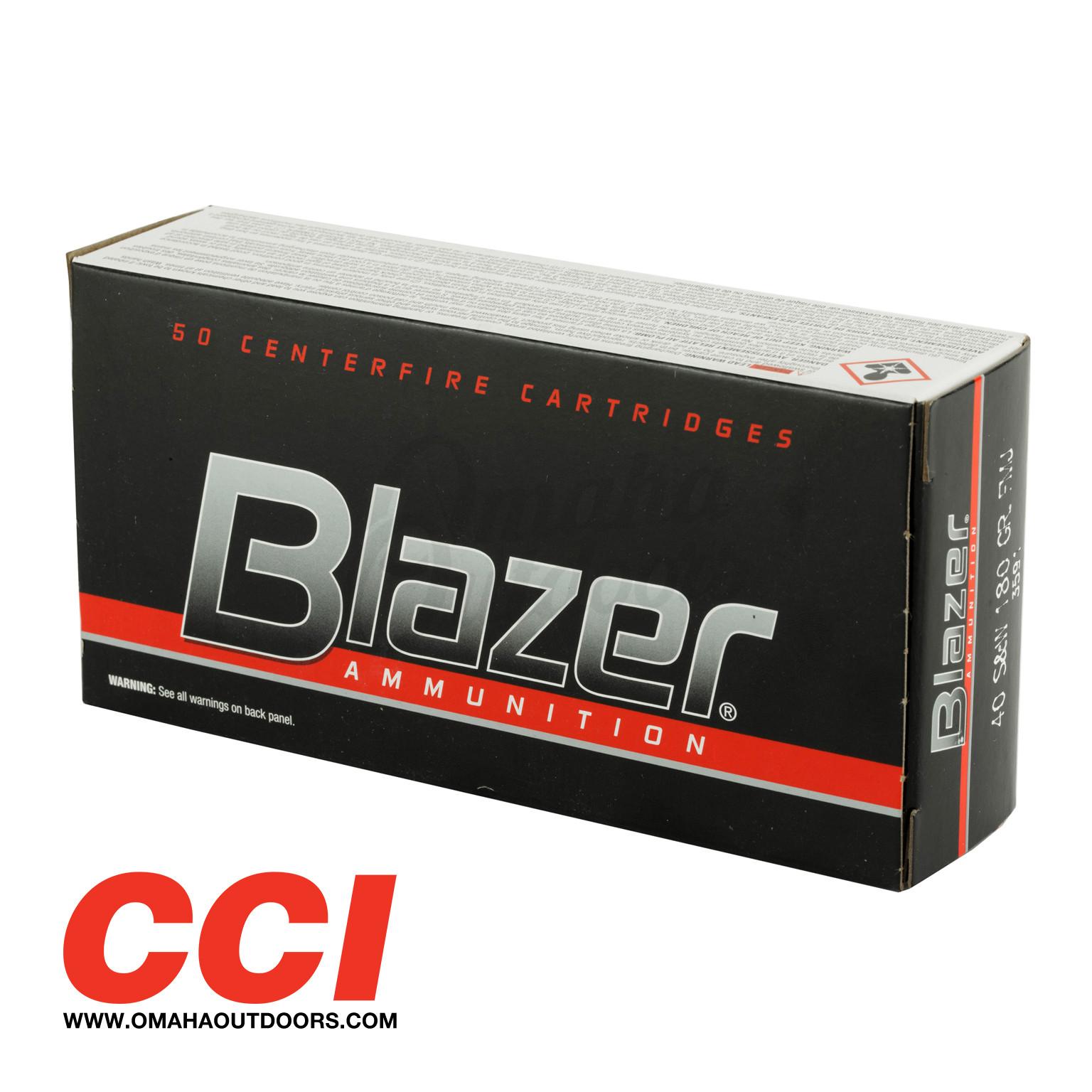 cci blazer ammo 40 s w 180 gr fmj 50 round box 3591