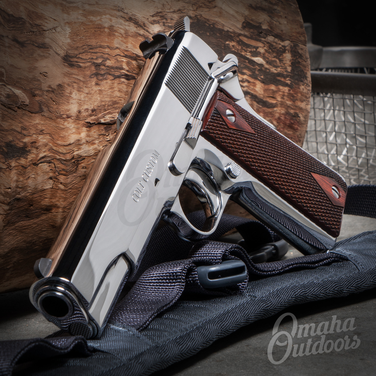 Colt 1911 Government Bright Polished Stainless 5″ Pistol 45 ACP 7 RD  O1070BSTS