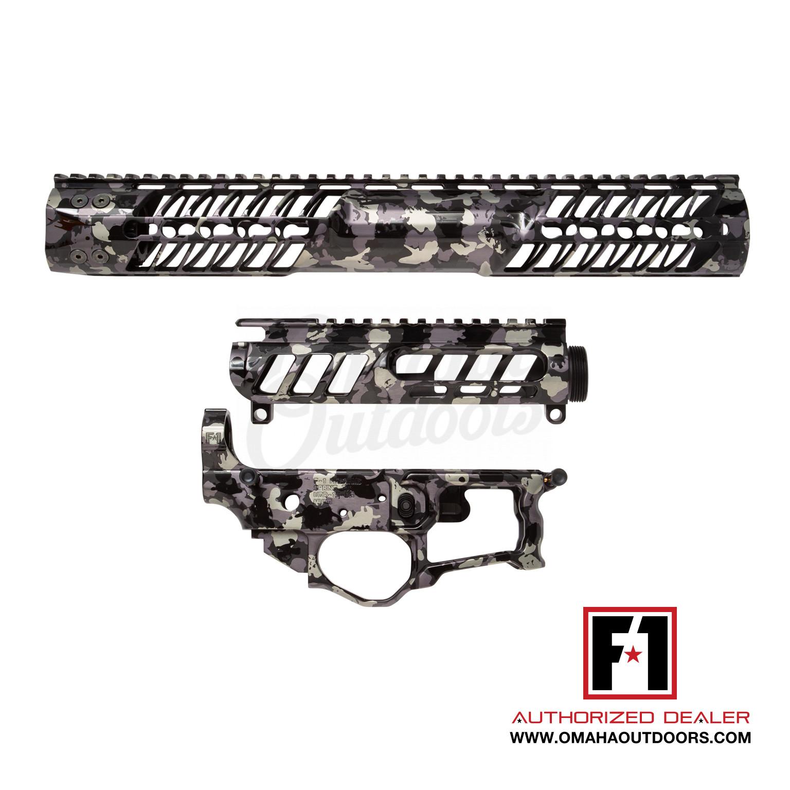 F1 Firearms Bdr 15 3g Chassis Carbon Camo Receiver Set Ar 15 14 75 C7k Keymod Handguard Upper Lower Bdr 15 3g C7k 14 Carbon Camo P M