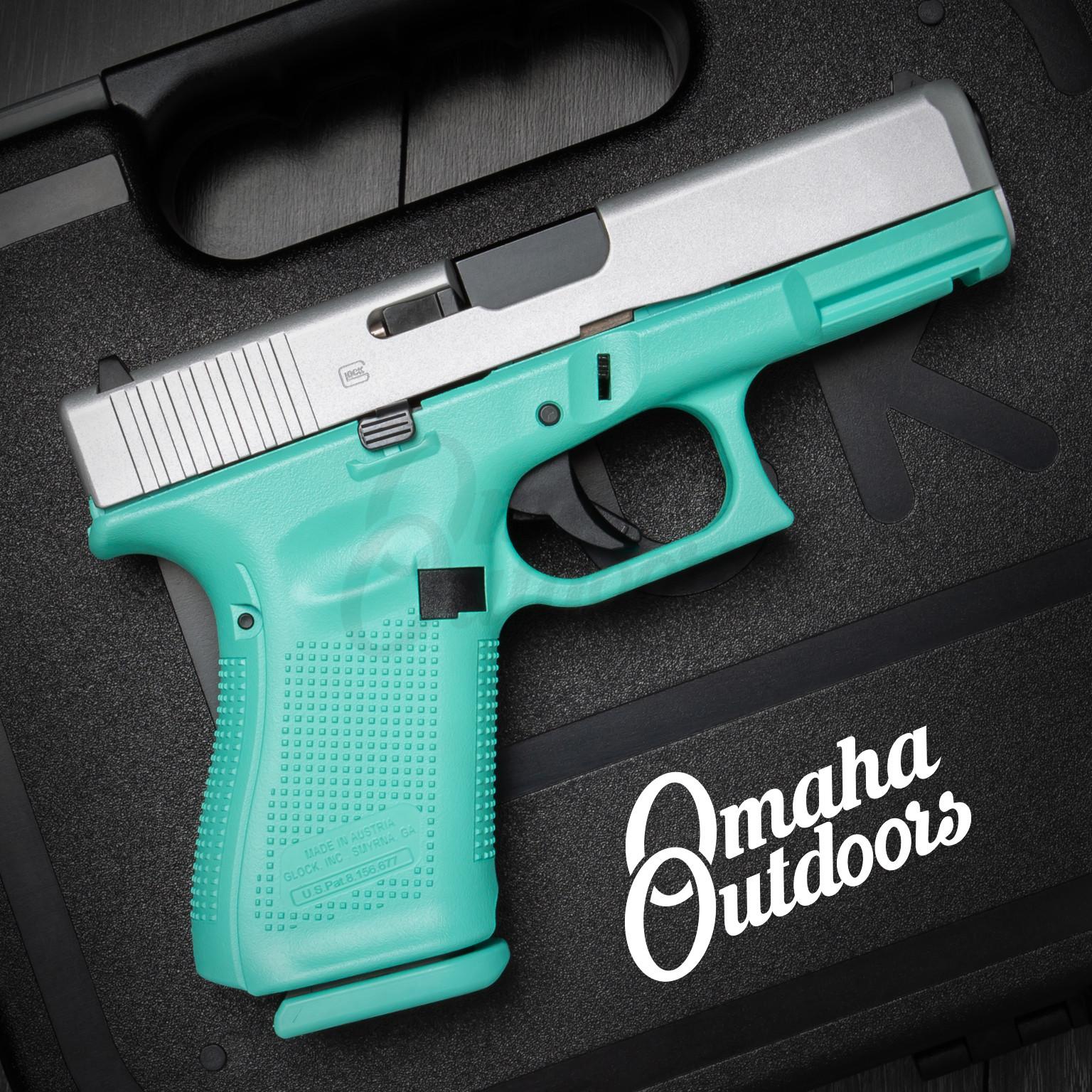 Glock 19 Gen 5 Vera Blue Frame Pistol Satin Aluminum Slide 9mm 15 RD  PA1950203-VBL-FR-SAL-SL