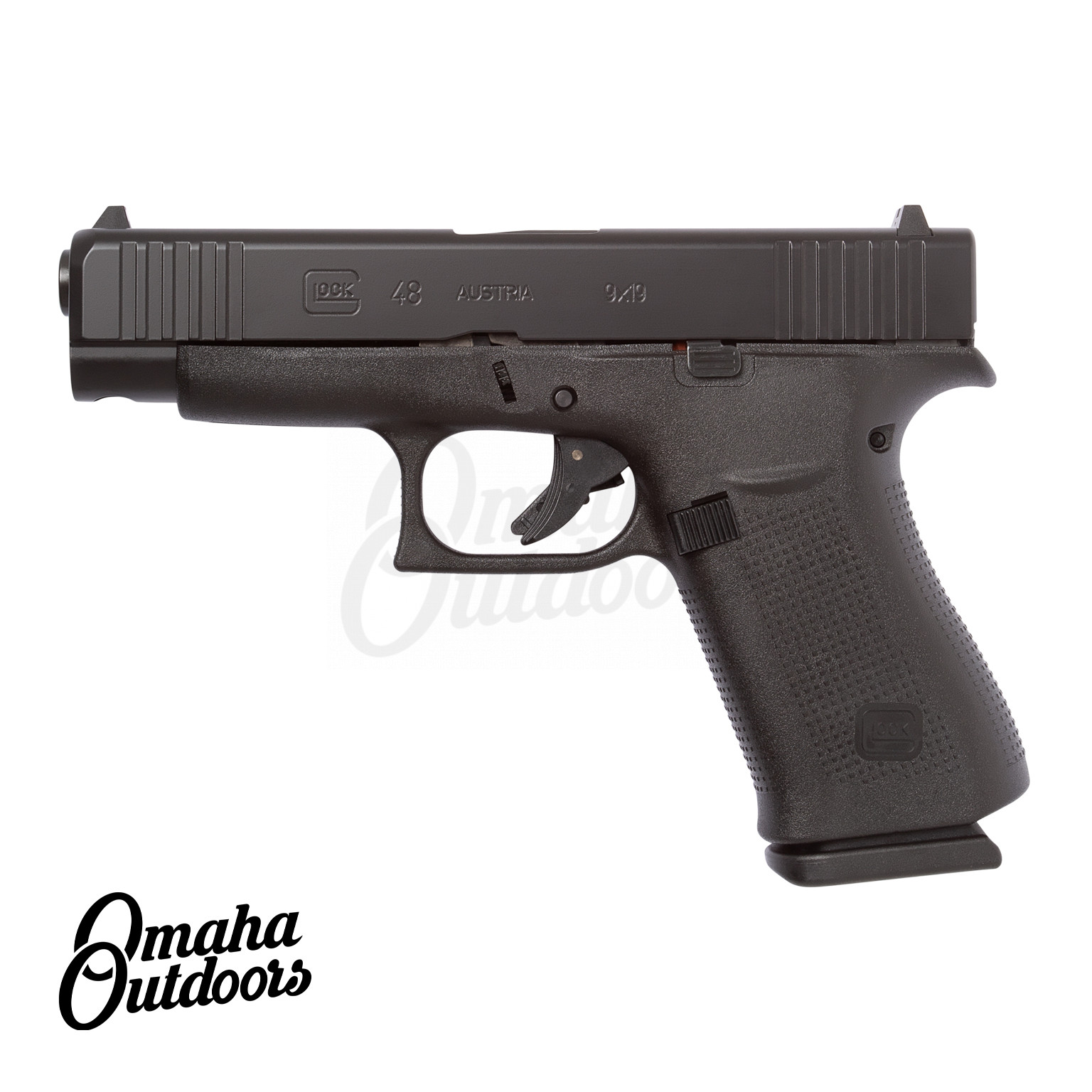 cheaper 6f752 b39be Glock 48 Pistol 9mm Black Slide 10 RD 4.17 PA485SL201-EBO-SL
