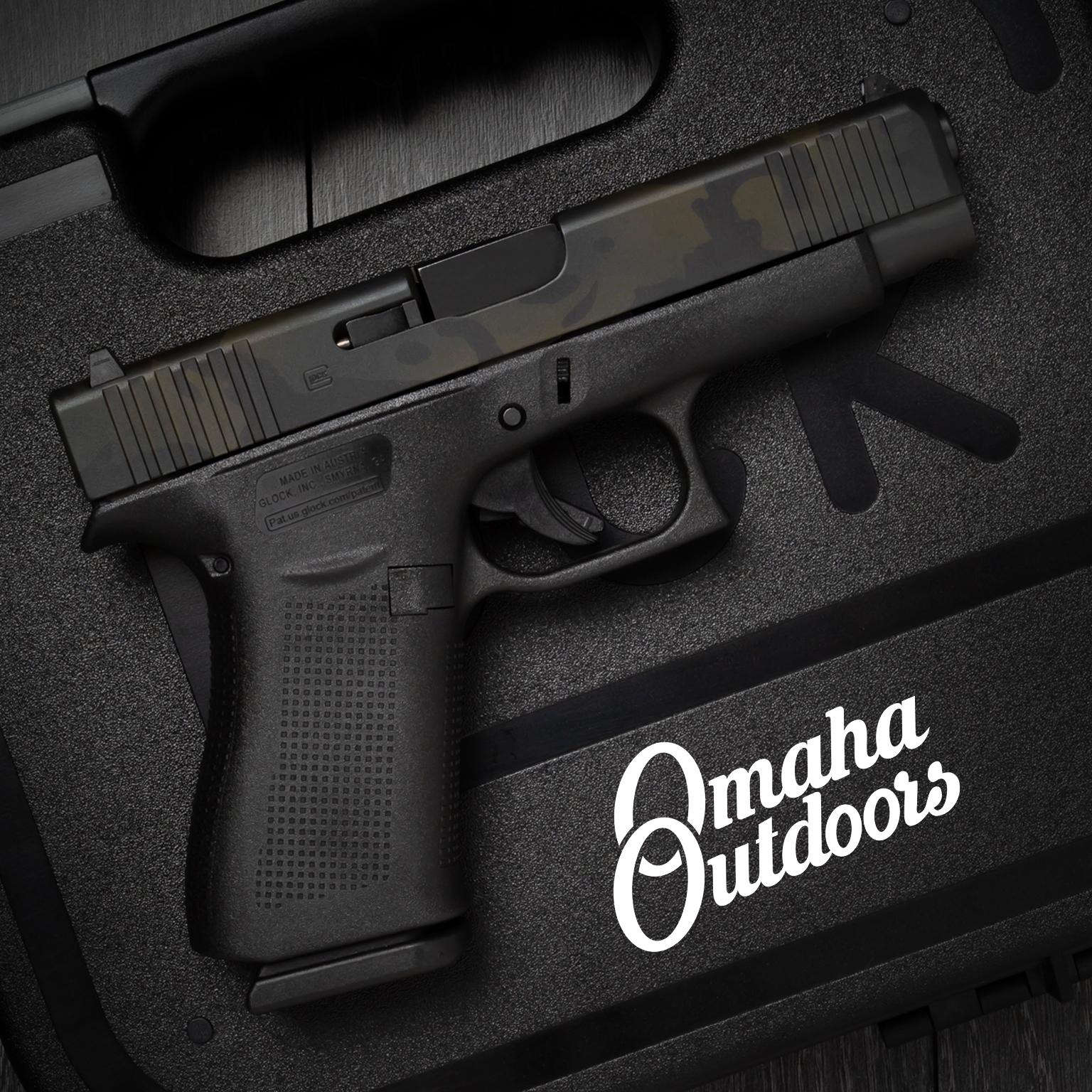 Glock 48 Pistol 9mm Black MultiCam Slide 10 RD 4 17″ PA485SL201-BMC-SL