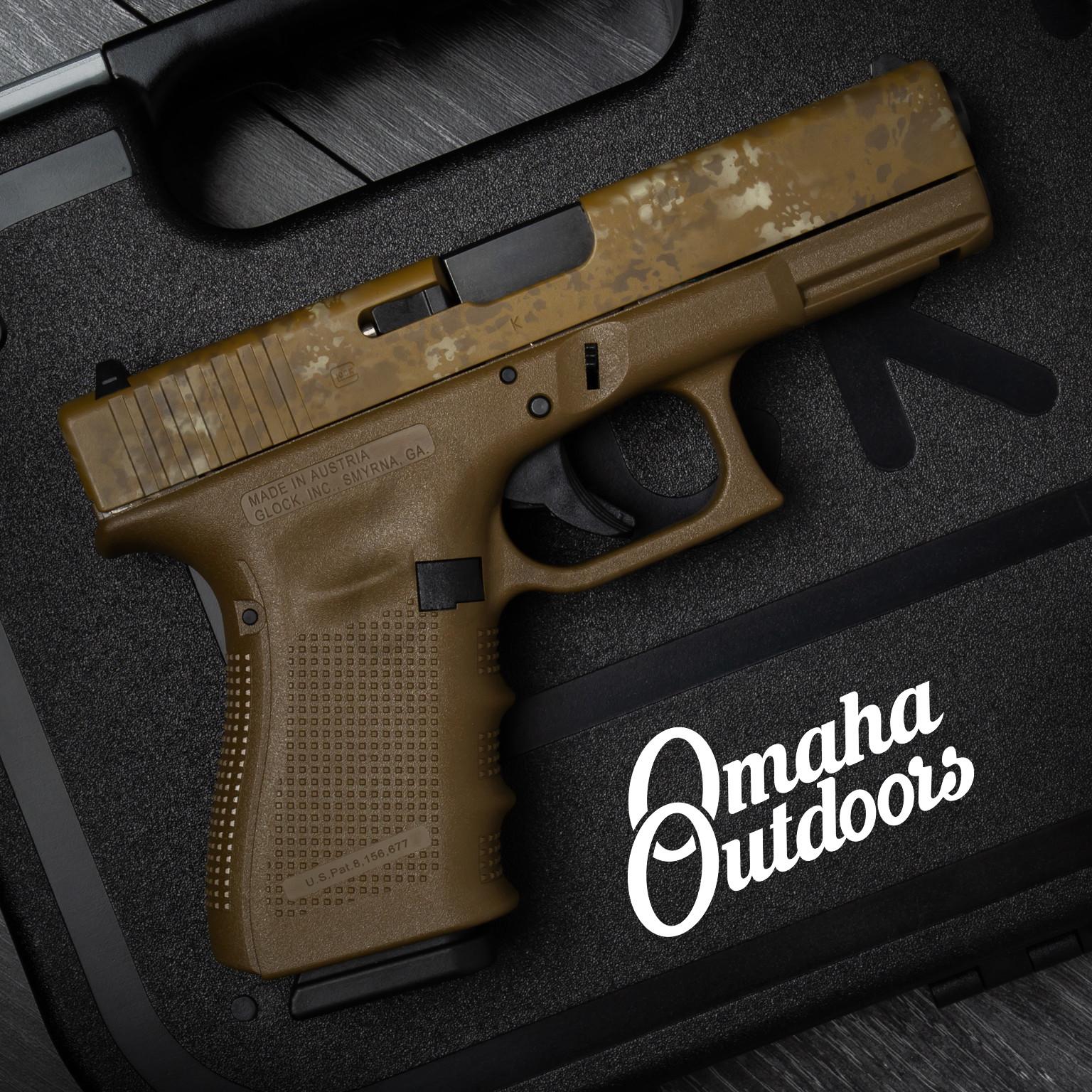 Glock 19 Gen 4 FDE Pistol 9mm Marble Slide 15 RD PG1950203D-DMAR-SL