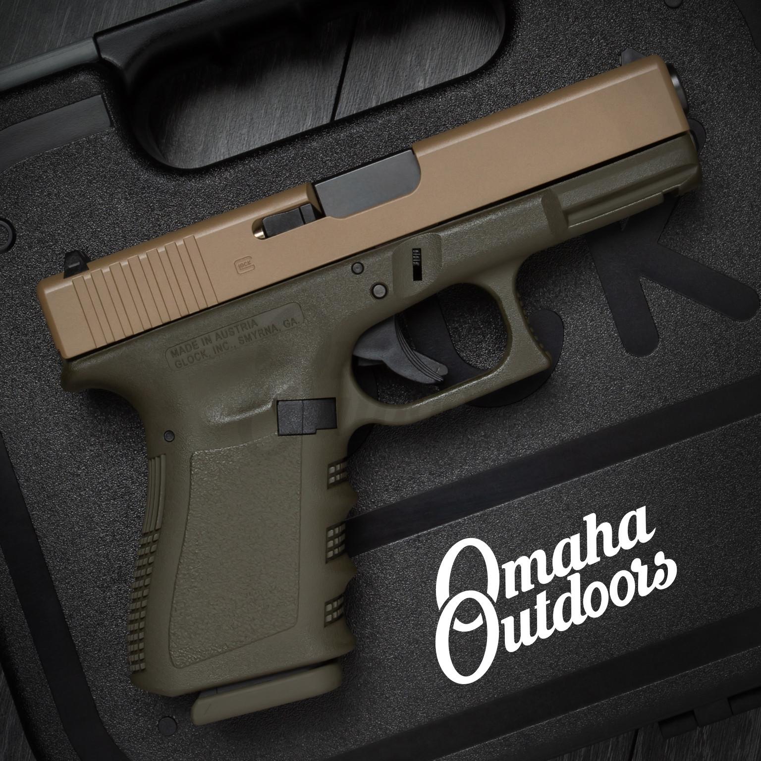 Glock 19 Gen 3 OD Green Frame Pistol FDE Slide 9mm 15 RD  PI1950203-MODG-FR-FDE-SL