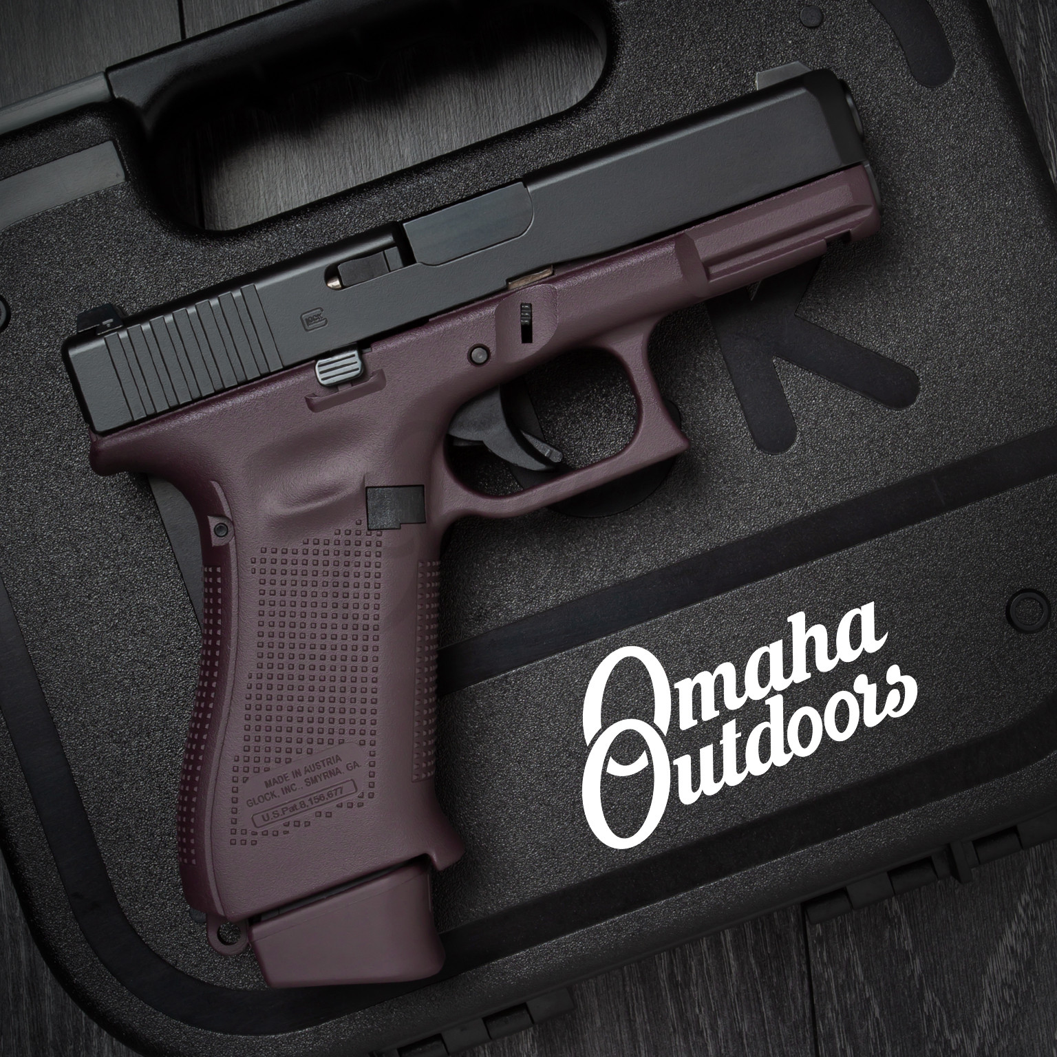 Glock 19X Gen 5 Plum Pistol Black Slide 9mm 17, 19 RD Night Sights  PX1950703-PLM-FR-FBK-SL