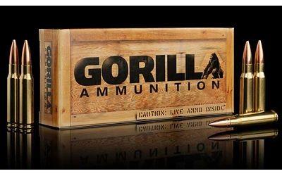 Gorilla Ammunition Match 308 Winchester 175 Grain Sierra MatchKing 20 Round  Ammo Box GA308175SMK