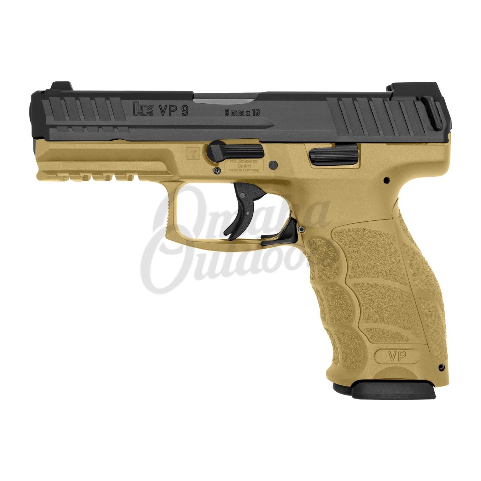 HK VP9 LE FDE Pistol 15 RD 9mm Night Sights 700009FDELE-A5