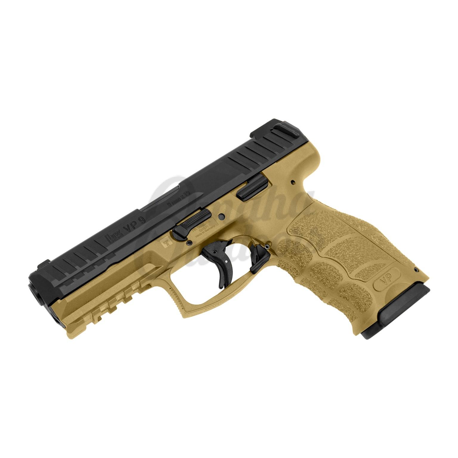 HK VP9 LE FDE Pistol 10 RD 9mm Night Sights 700009FDELEL-A5