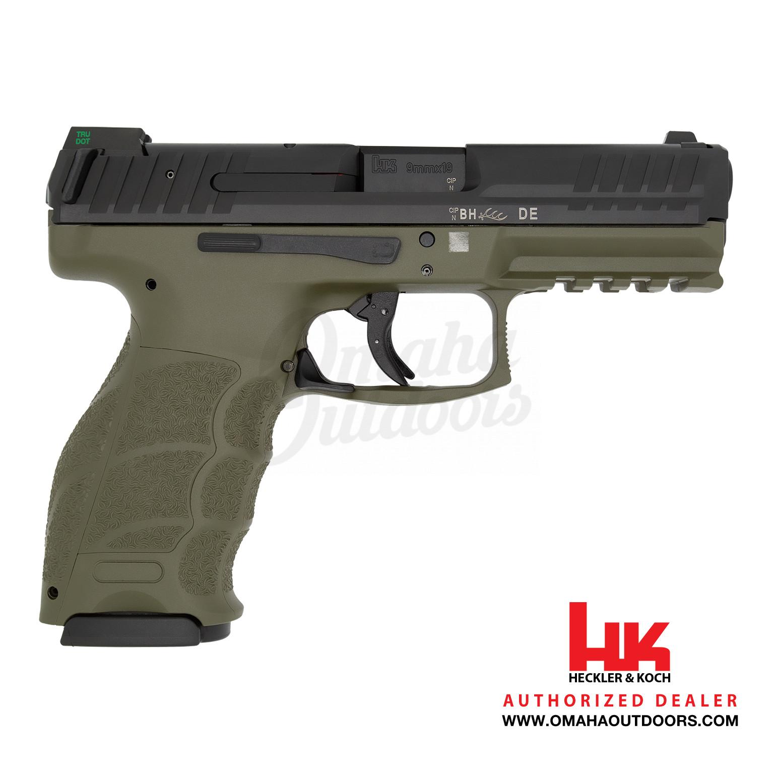 HK VP9 LE OD Green Pistol 15 RD 9mm Night Sights 700009GRLE-A5