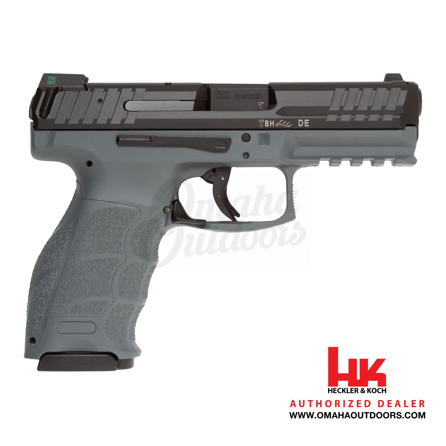 HK VP9 LE Gray Pistol 10 RD 9mm Night Sights 700009GYLEL-A5