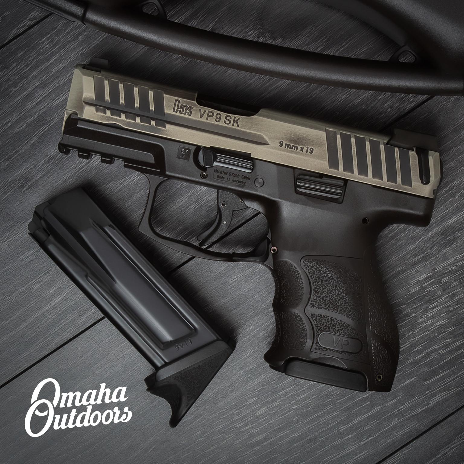 HK VP9SK LE Pistol 10 RD 9mm Bright Nickel Battle Born