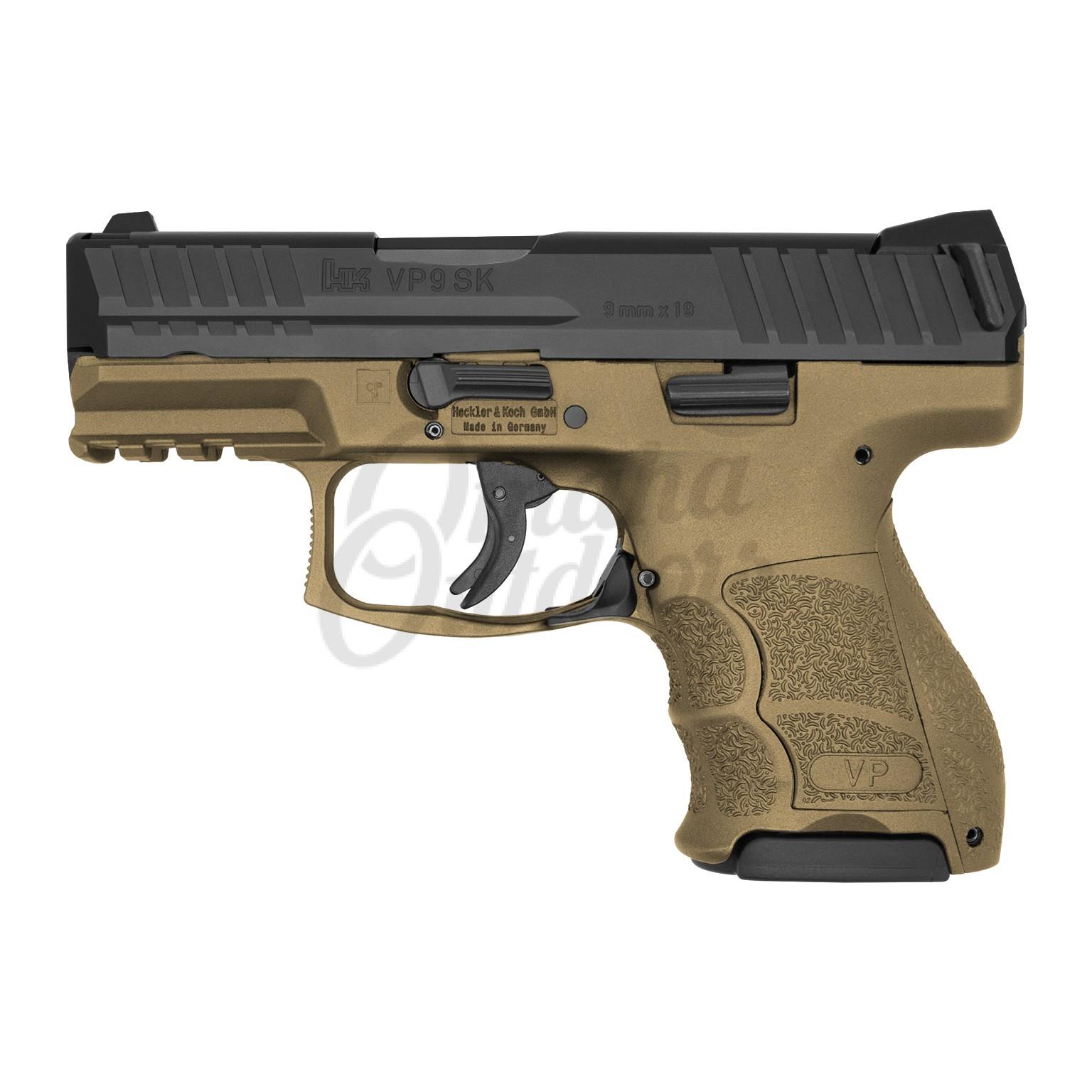 HK VP9SK LE Burnt Bronze Pistol 10 RD 9mm Night Sights