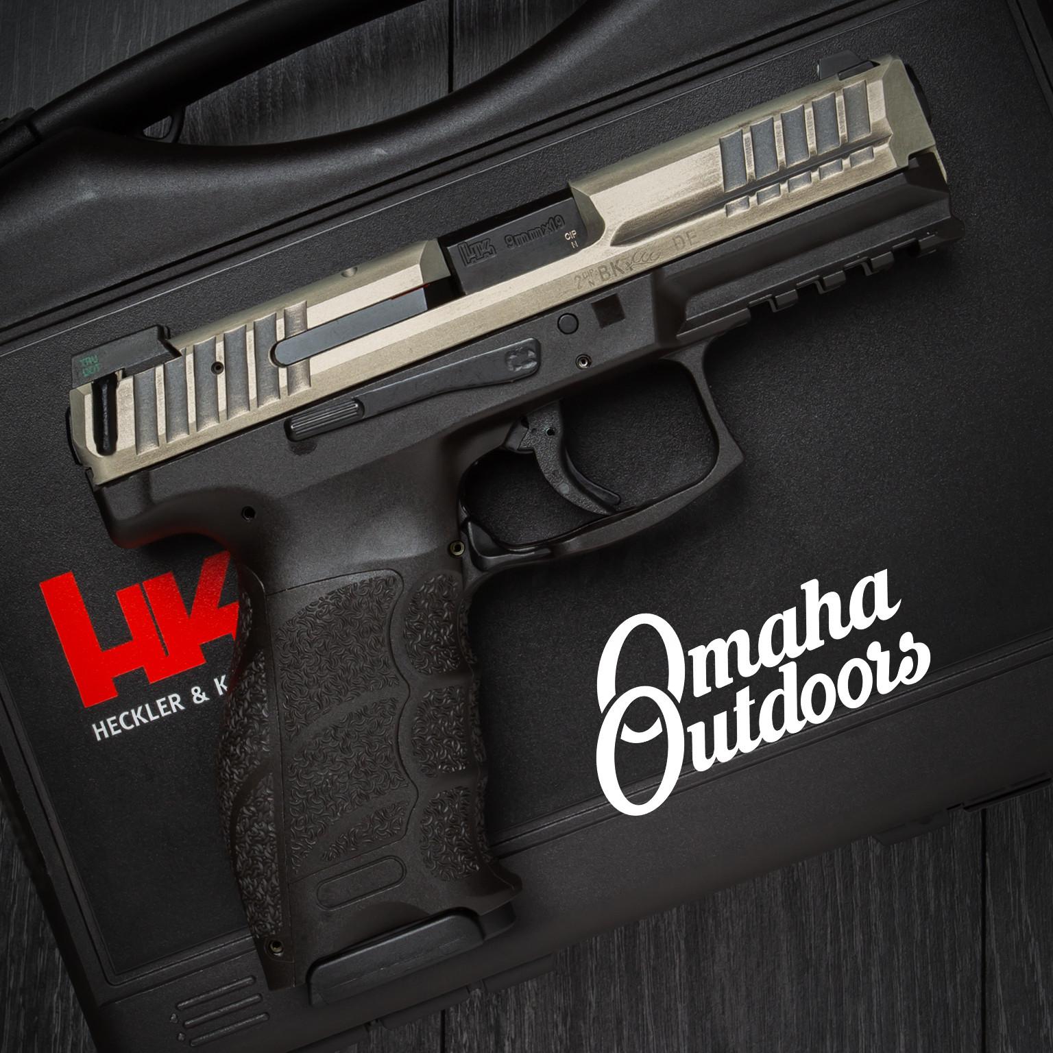 HK VP9 LE Pistol 17 RD 9mm Night Sights Bright Nickel