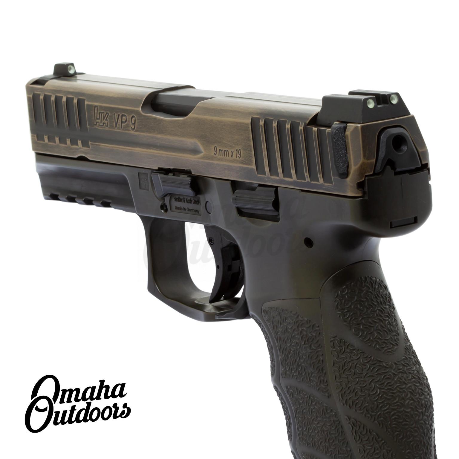 HK VP9 LE OD Green Pistol 17 RD 9mm Night Sights FDE Slide