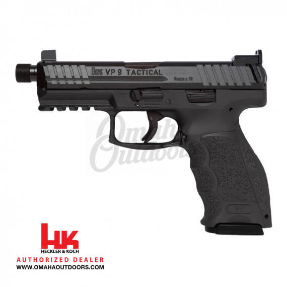 HK VP9 Tactical LE TB Pistol 15 RD 9mm Tall Sights