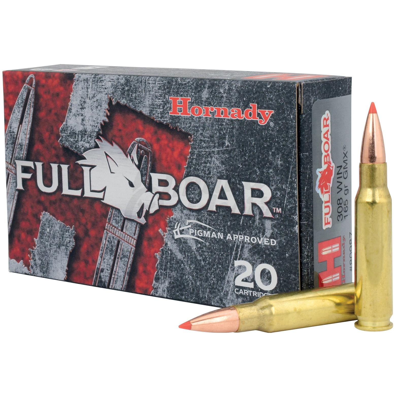 Hornady Full Boar 308 Winchester 165 Grain GMX 20 Round Ammo Box 80987
