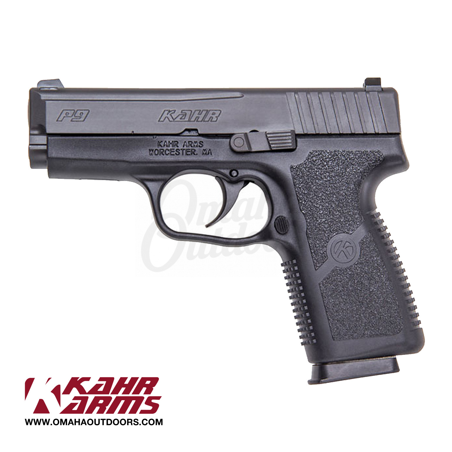 Kahr Arms P9 Pistol Night Sights 9mm 7 RD CA Compliant KP9094NA