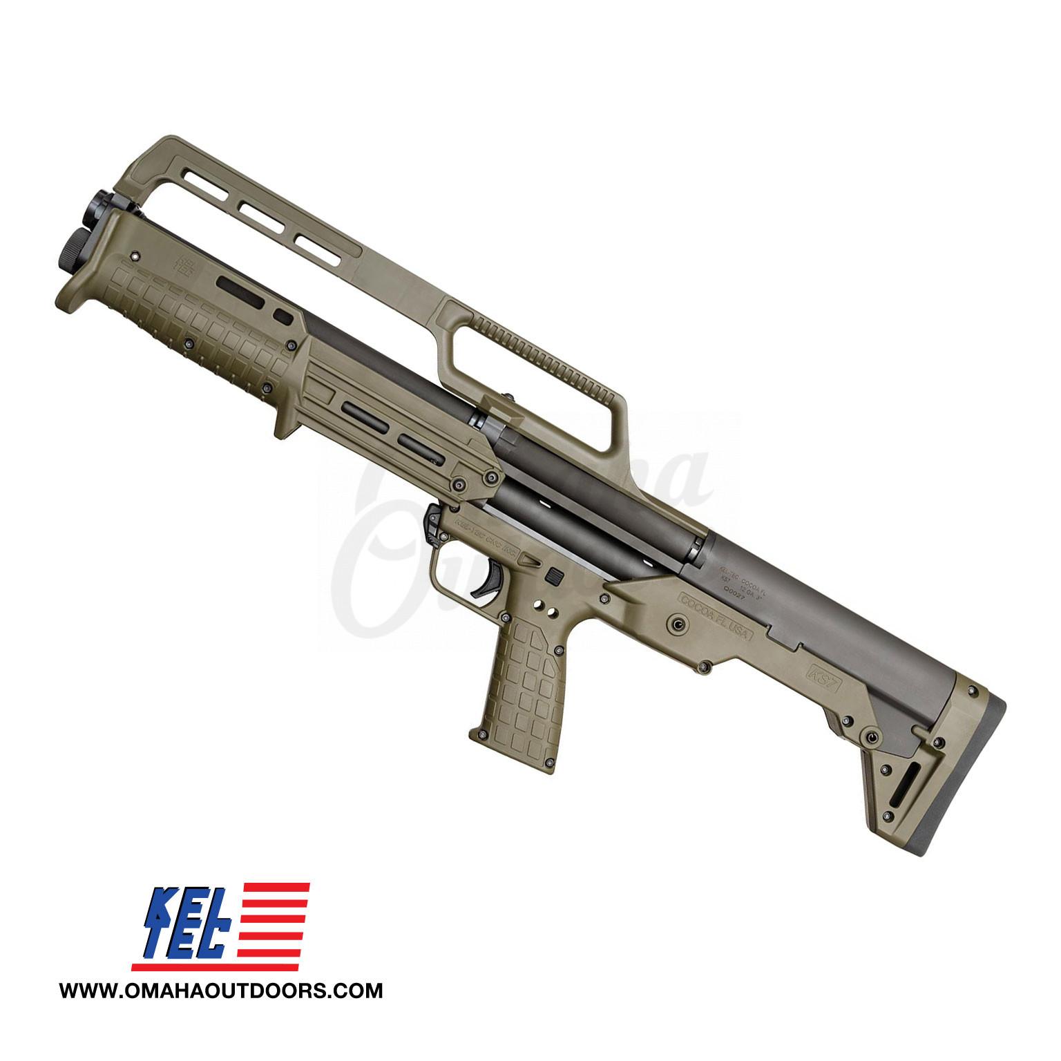 Kel-Tec KS7 Pump Shotgun 12 Gauge 6 RD 18 5″ Green Synthetic Stock KS7GRN