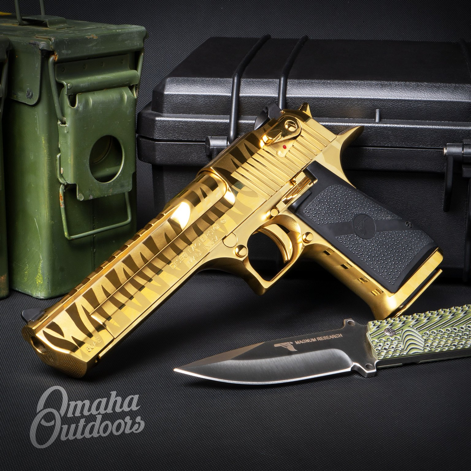 Magnum Research Desert Eagle Mark Xix Full Titanium Gold Pistol 7 Rd