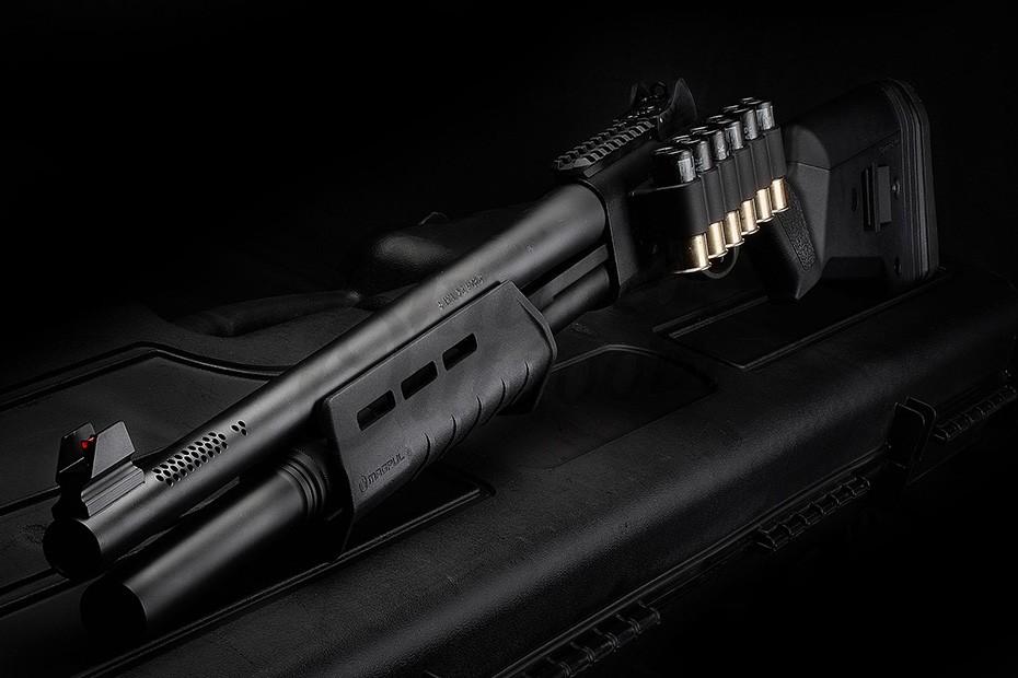 Nighthawk Custom Overseer Model 2 5 Remington 870 Pump Shotgun 12 Gauge 6  RD SGA Magpul Stock Vang Comp System Barrel Port Upgrade 9487