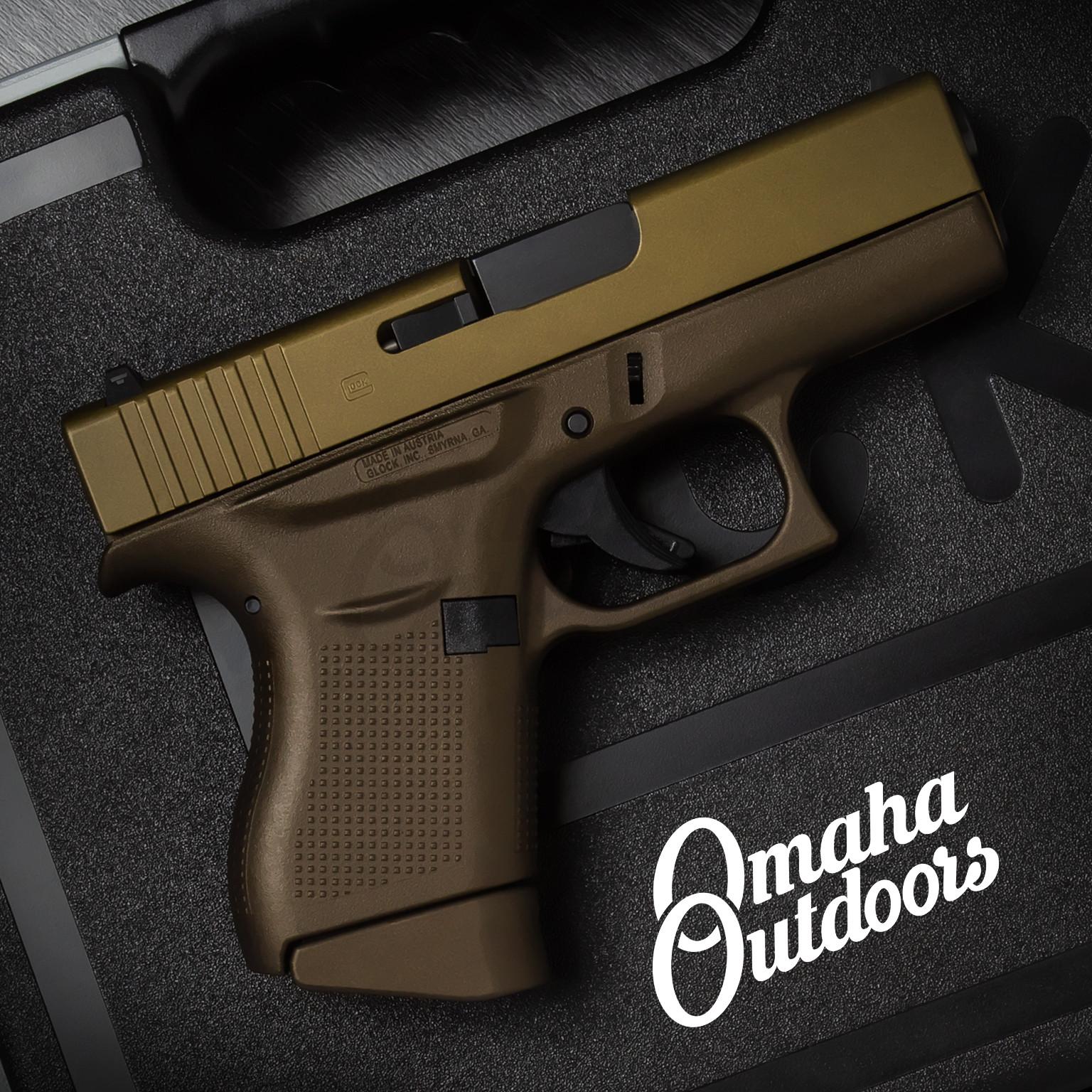 Glock 43 Spartan Bronze Pistol 9mm Burnt Bronze Slide 6 RD  PI4350201-SBZ-FR-BBZ-SL