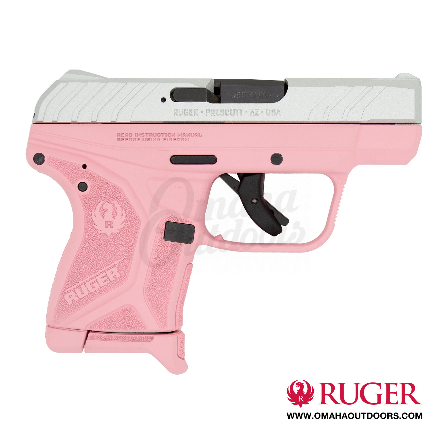Ruger LCP II Victoria Pink Pistol 6 RD 380 ACP Satin