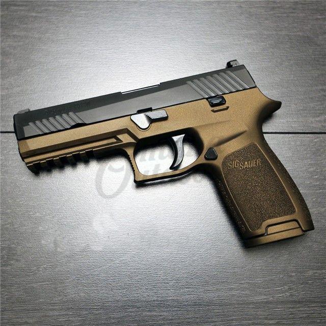 Sig Sauer P250 Full Size Burnt Bronze Pistol 45 ACP 10 RD 250F-45-B-BBZ-FR