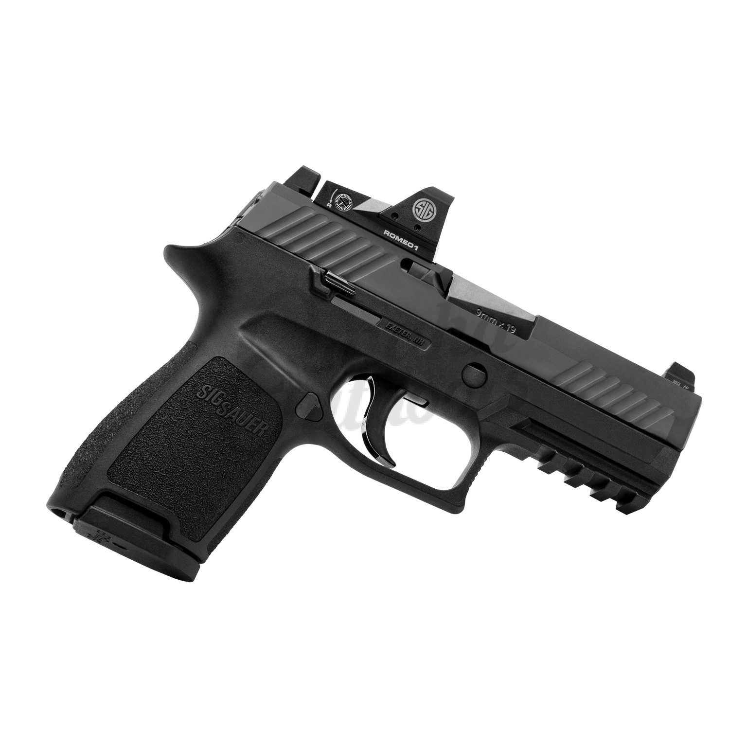 Sig Sauer P320 RX Compact Pistol 9mm 15 RD Night Sights Romeo 1 Reflex  320C-9-BSS-RX