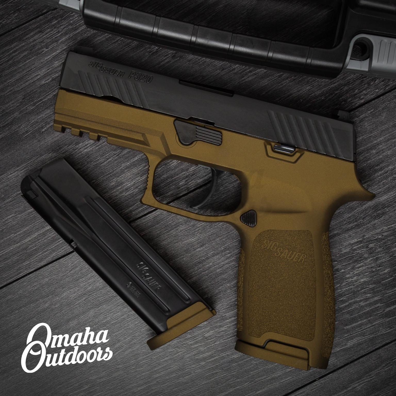 Sig Sauer P320 Carry Burnt Bronze Pistol 9mm 17 RD Night Sights  320CA-9-BSS-BBZ-FR