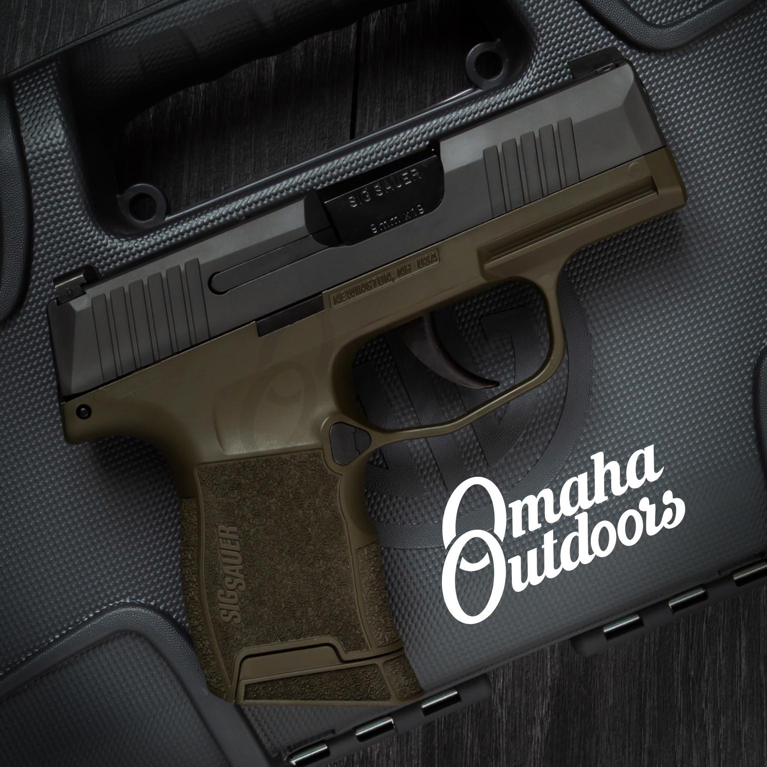 Sig Sauer P365 OD Green Pistol 9mm Black Slide 10 RD XRay3 Day / Night  Sights 365-9-BXR3-MODG-FR