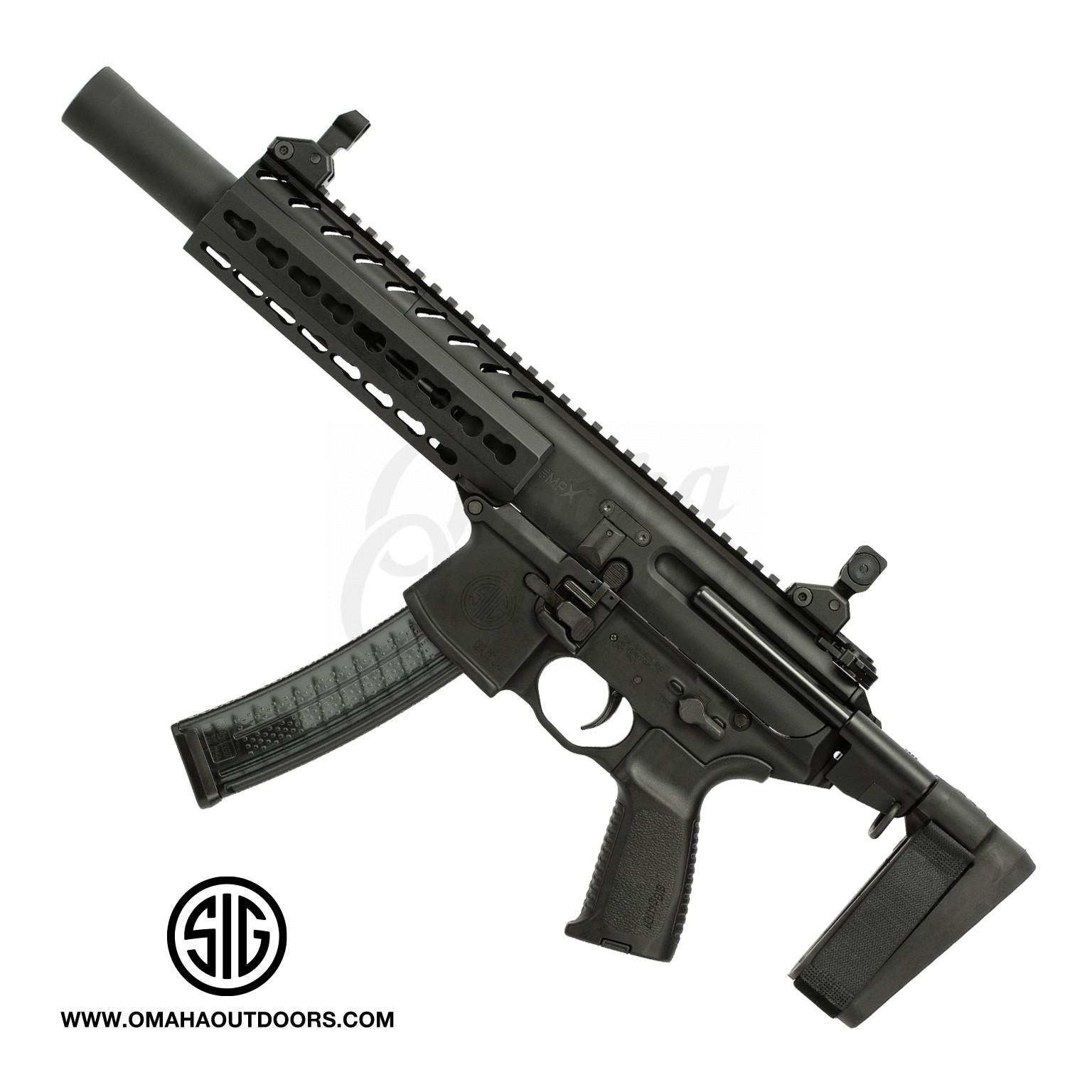 Sig Sauer MPX K PSB Tacops Rifle Style Pistol 4 5″ 9mm 30 RD KeyMod  MPX-K-9-KM-TACOPS-PSB