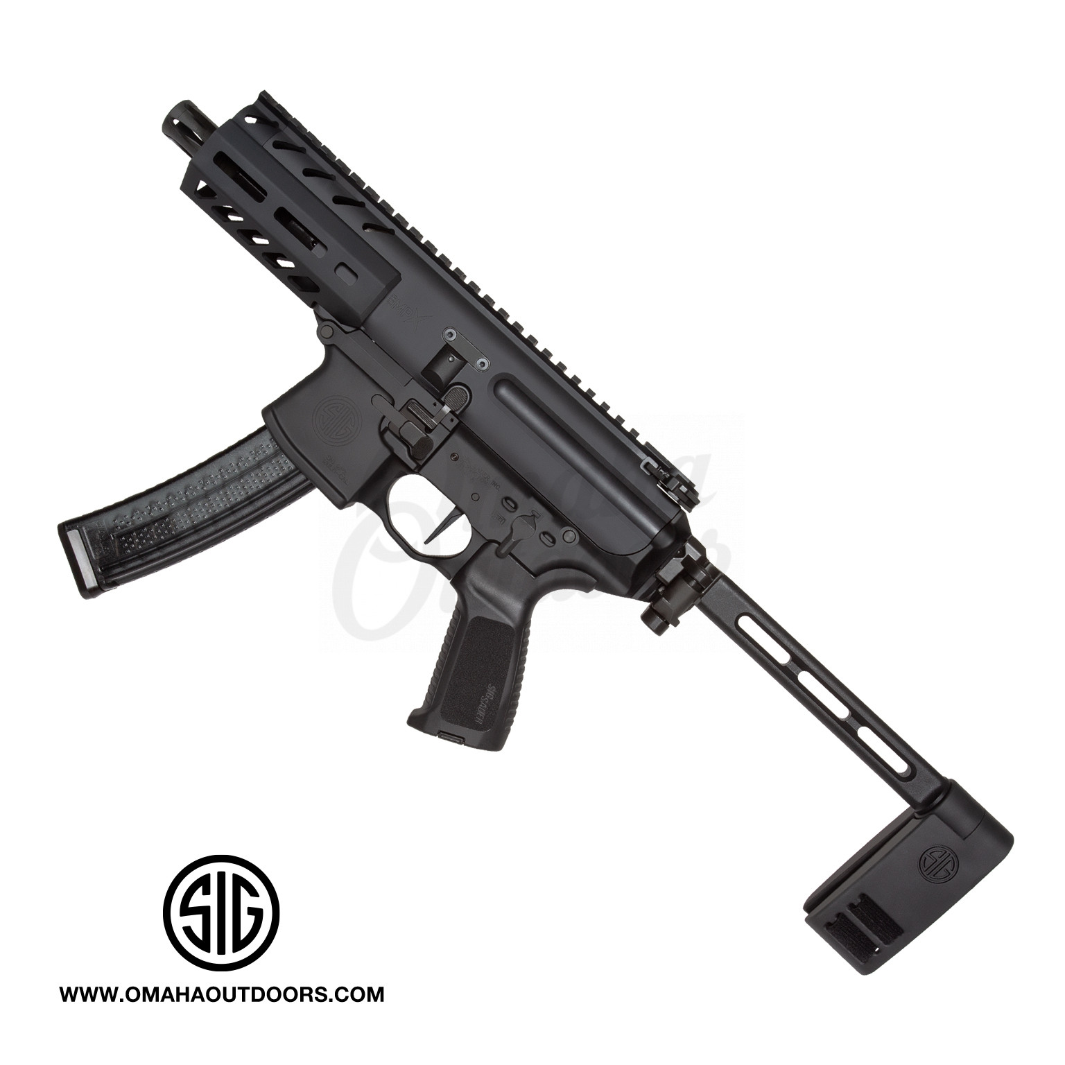 Sig Sauer MPX K Rifle Style Pistol 4 5″ 9mm 30 RD M-LOK PCB Brace PMPX-4B-9