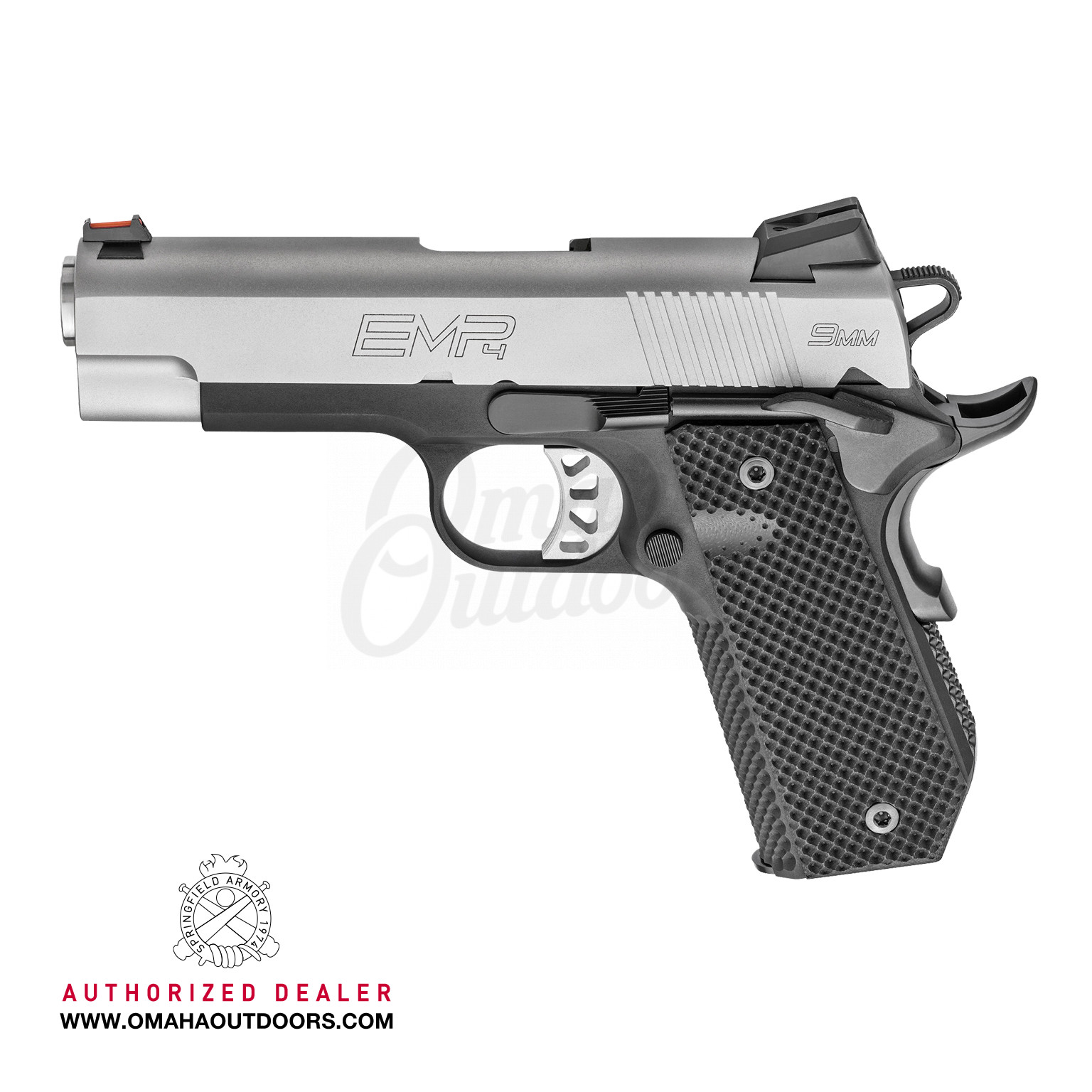 Springfield Armory 1911 EMP Concealed Carry Contour Lightweight Champion 4″  Pistol 9mm Stainless Slide 10 RD PI9229L