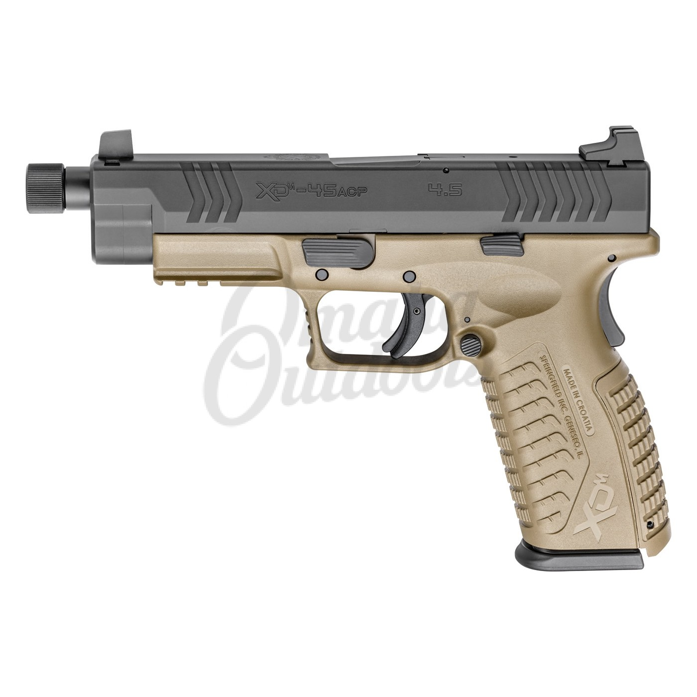 Springfield Armory XDM Full Size FDE Pistol 45 ACP 13 RD Threaded Barrel  XDMT94545FDEHCE