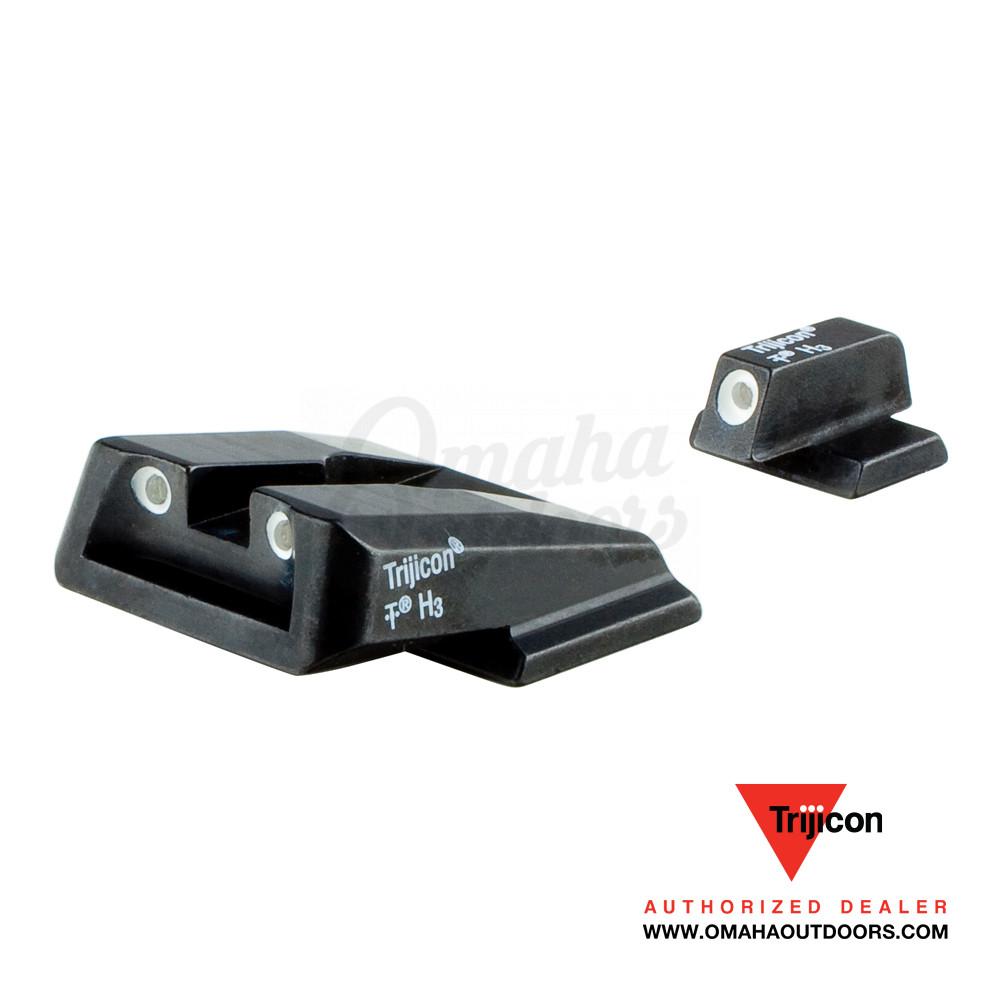 Trijicon Bright & Tough Green Tritium Set Sights Smith and Wesson M&P 9  Shield, M&P 40 Shield, M&P 45 Shield  163″ SA39-C-600714