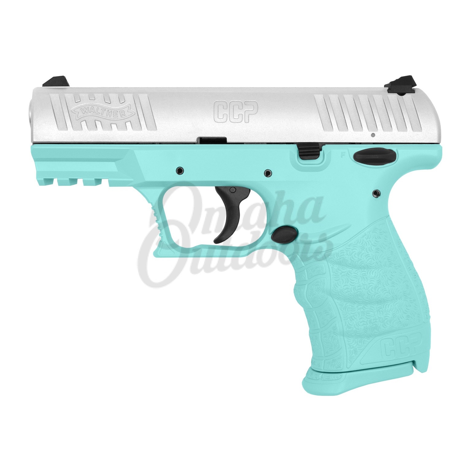 Walther Arms CCP M2 Vera Blue Pistol 9mm Stainless Slide 8 RD 5080501-VBL-FR