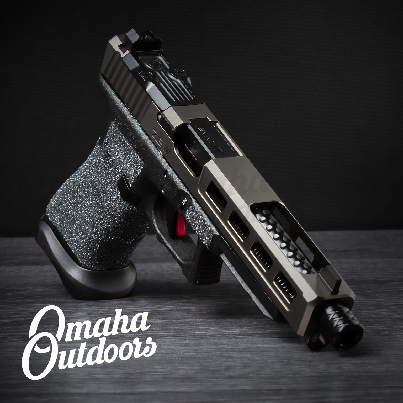 ZEV Tech Glock 34 Gen 3 Dragonfly Pistol 9mm Space Gray Slide 17 RD  Threaded Barrel GUN-3G-G34-DFLY-GRY-TH