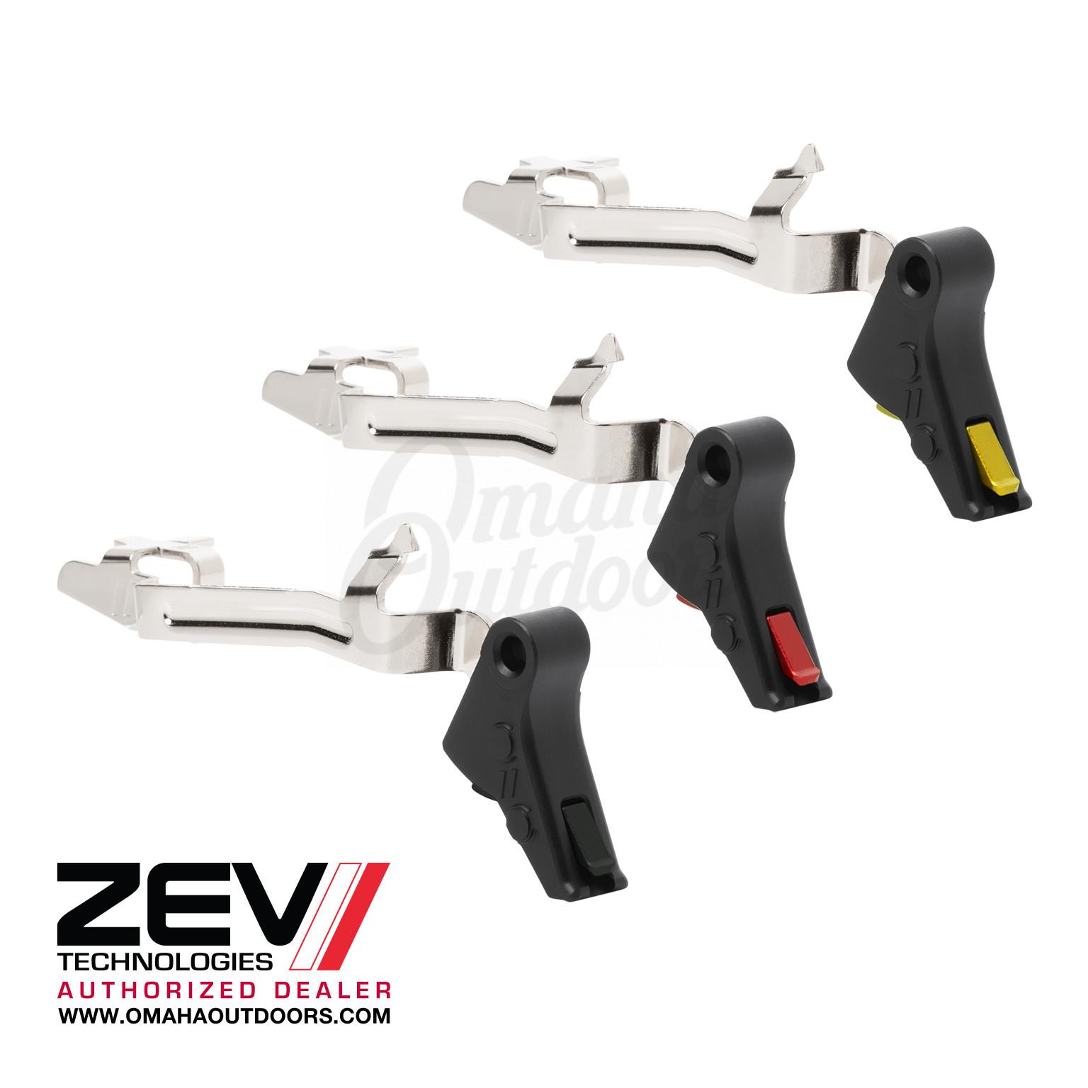 ZEV Tech PRO Flat Face Trigger Bar Kit Glock 17 19 22 23 26 27 31 32 34 35  37 38 Gen 3/4